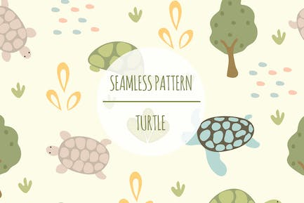 Turtle — Nahtloses Muster