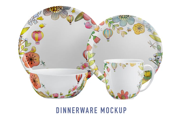 Cover Image For Dinnerware Collection Mockup