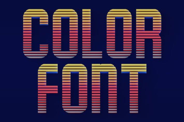 Líneas horizontales - Fuente SVG Color