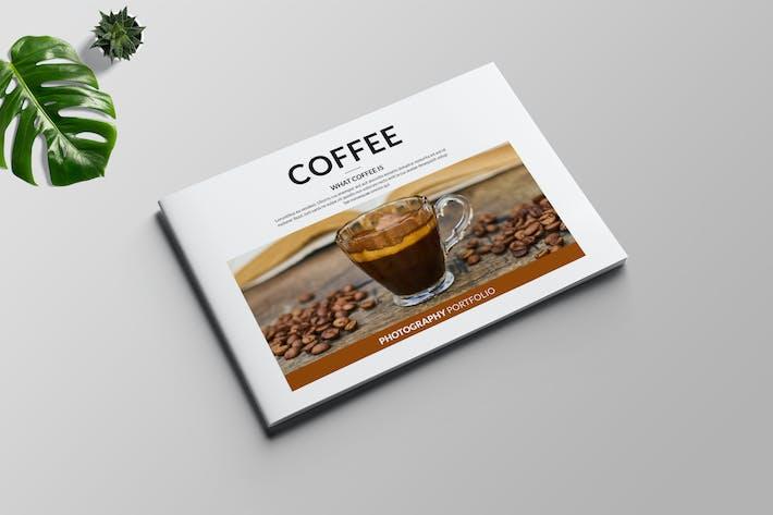 Landschaft Kaffee-Portfolio-Vorlage