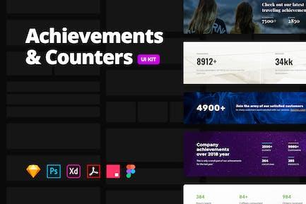 Counters & Achievements – Multi-format UI Kit