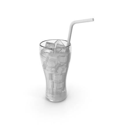 Vaso de jugo blanco con pajita