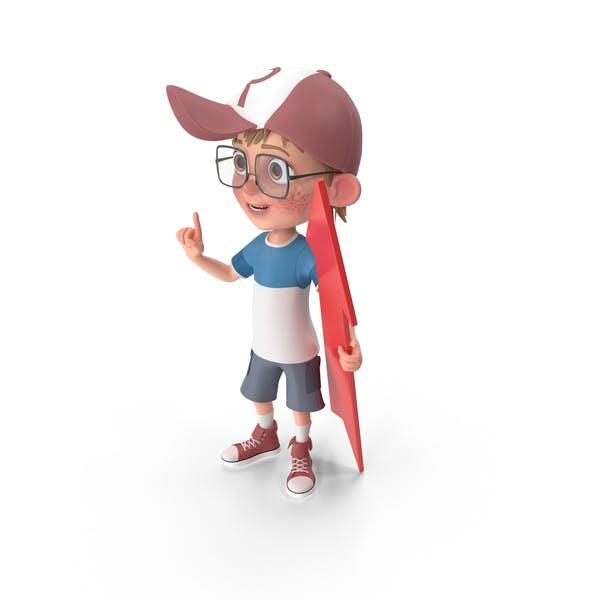 Thumbnail for Cartoon Boy Holding Arrow