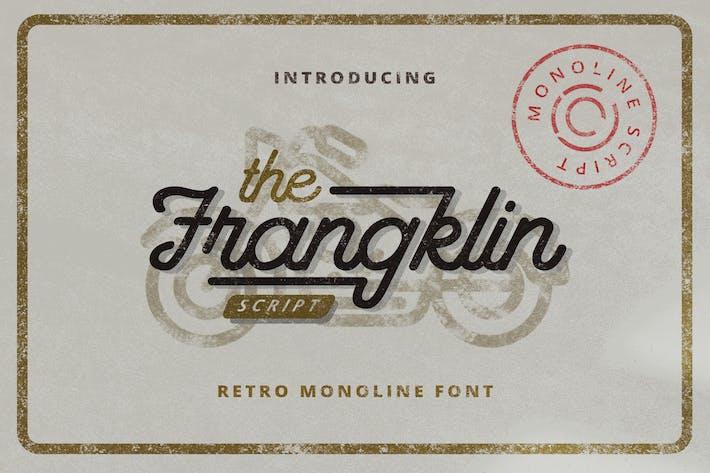 Thumbnail for Frangklin - Monoline Retro Font