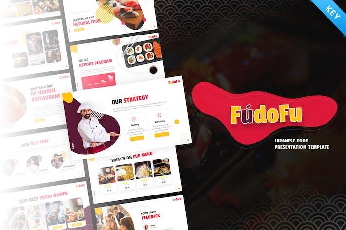 Thumbnail for Fudofu Творческая еда и напитки Keynote Шаблон