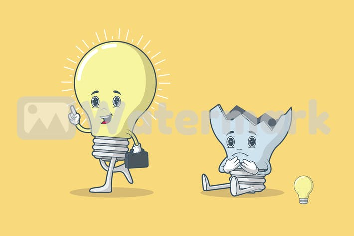 Thumbnail for Light Bulb Character