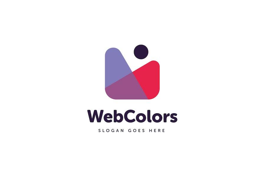 Web Colors W Letter Logo Template