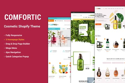 Comfortic - Clean Responsive Beauty & Cosmetic Sho