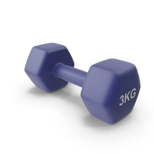 Single Fitness Dumbbells 3kg