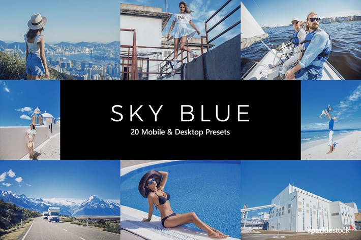 Thumbnail for 20 Sky Blue Lightroom Presets & LUTs