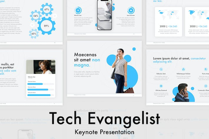 Cover Image For Tech Evangelist Keynote Template