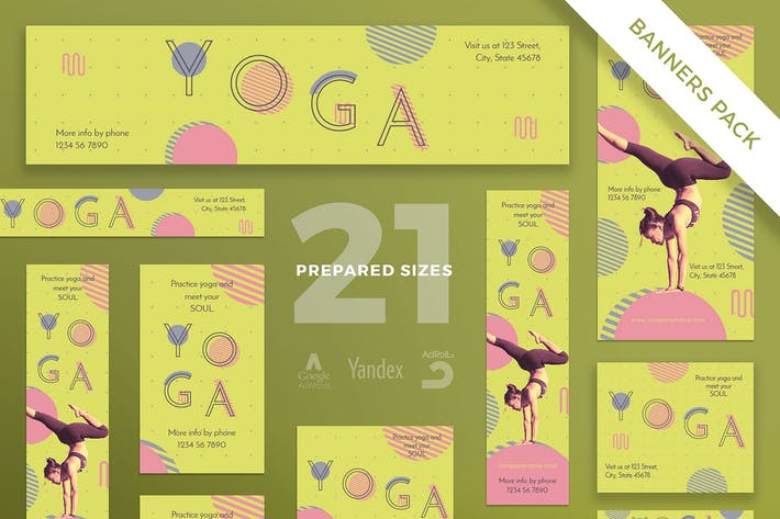 Thumbnail for Yoga Workout Banner Pack Template