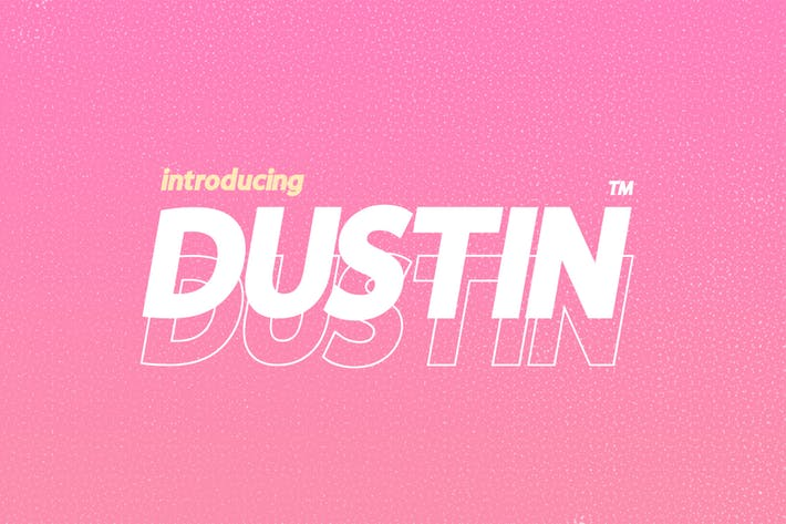 Thumbnail for Dustin Font Family