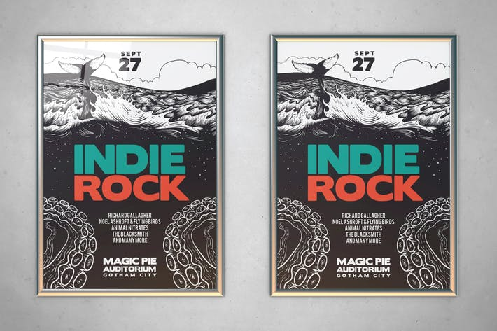 Thumbnail for Illustrated Indie Rock Flyer