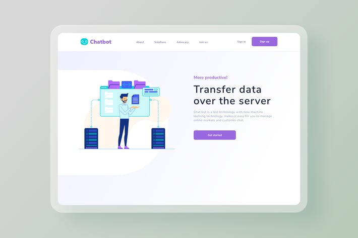Thumbnail for Transfer data over the server website Illustration