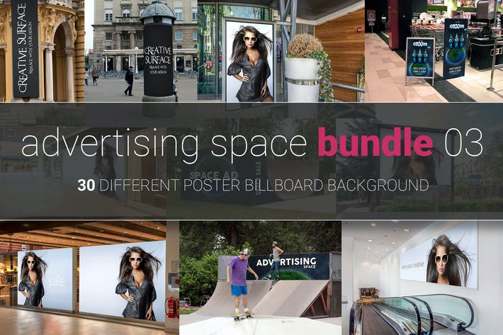 Thumbnail for Advertising Space Mock-up Bundle 03