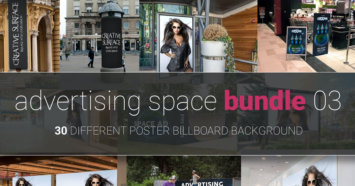 Download Advertising Space Mock-up Bundle 03 by pozitivo