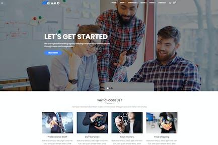 Enzio - Отзывчивый Бизнес WordPress Тема