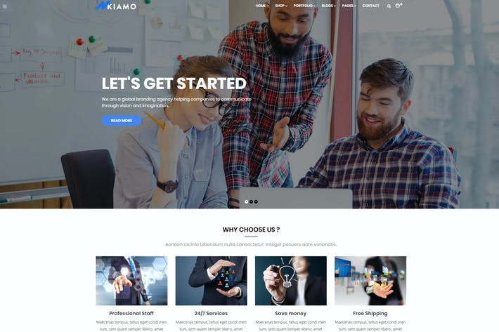 Thumbnail for Enzio - Responsive Business WordPress Theme