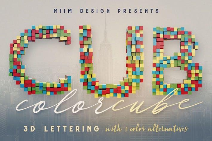 Thumbnail for Color Cubes - 3D Lettering