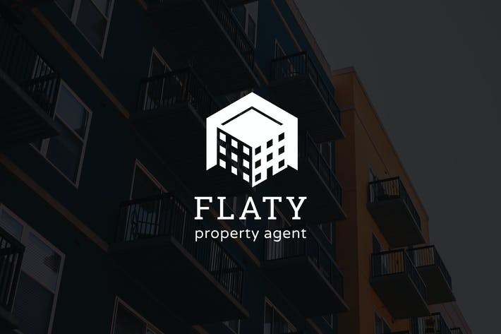 Cover Image For Flaty : Negative Space Property Logo