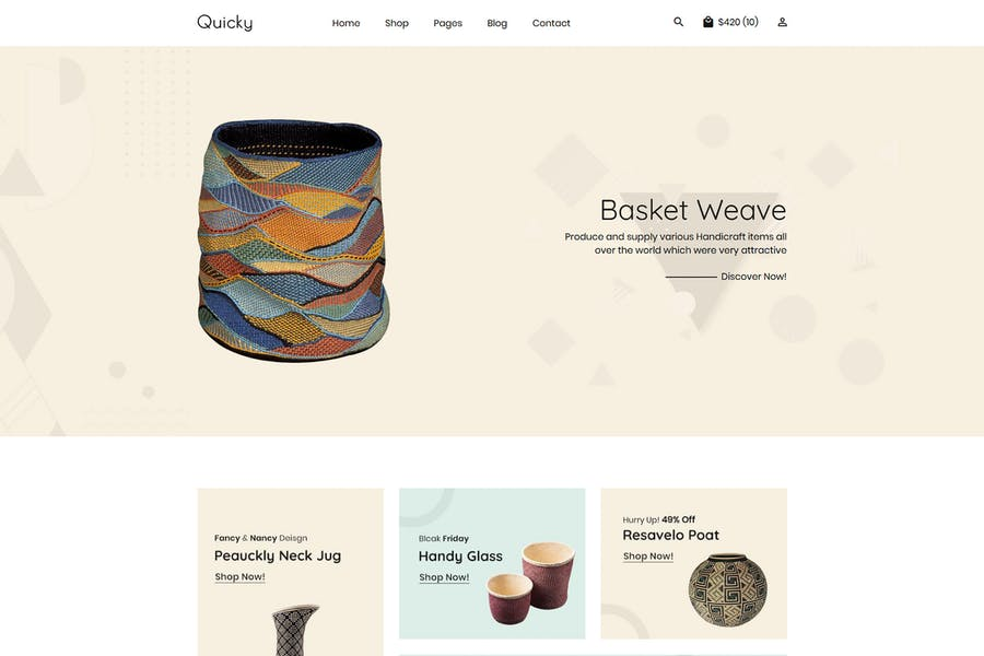 Quicky - Clean, Minimal eCommerce HTML Template