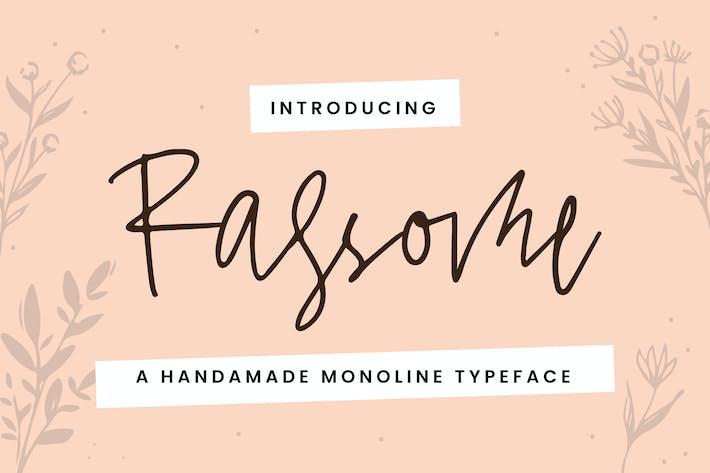 Rassome - A Handmade Monoline Typeface