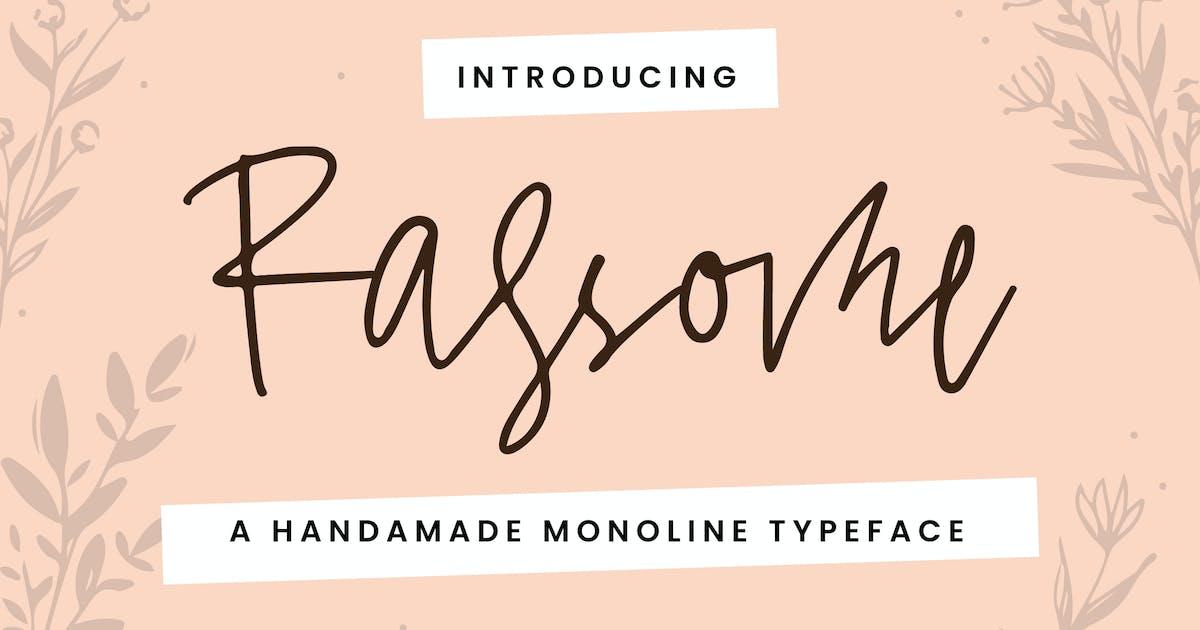 Download Rassome - A Handmade Monoline Typeface by IanMikraz