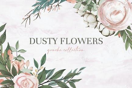 Gouache Dusty Flowers