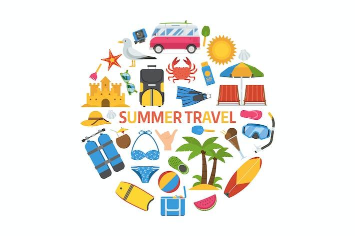 Thumbnail for Summer Travel Circle Print