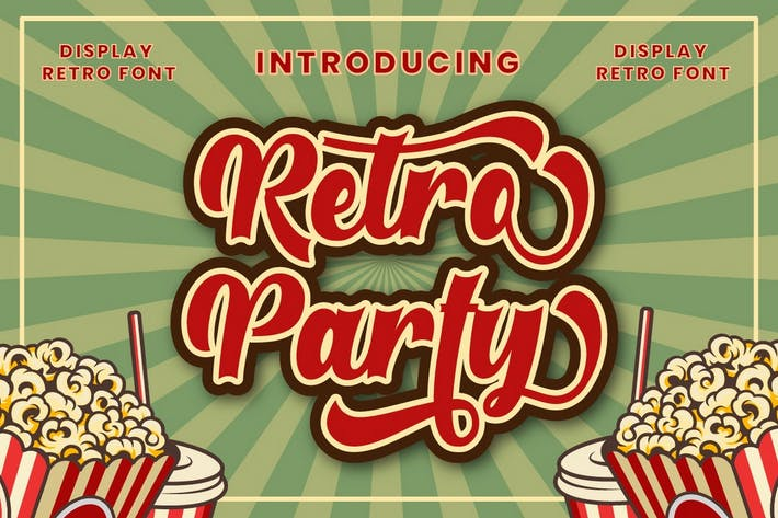 Thumbnail for Retro Party - Pantalla Retro Fuente