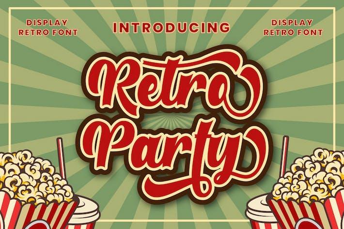 Retro Party - Pantalla Retro Fuente