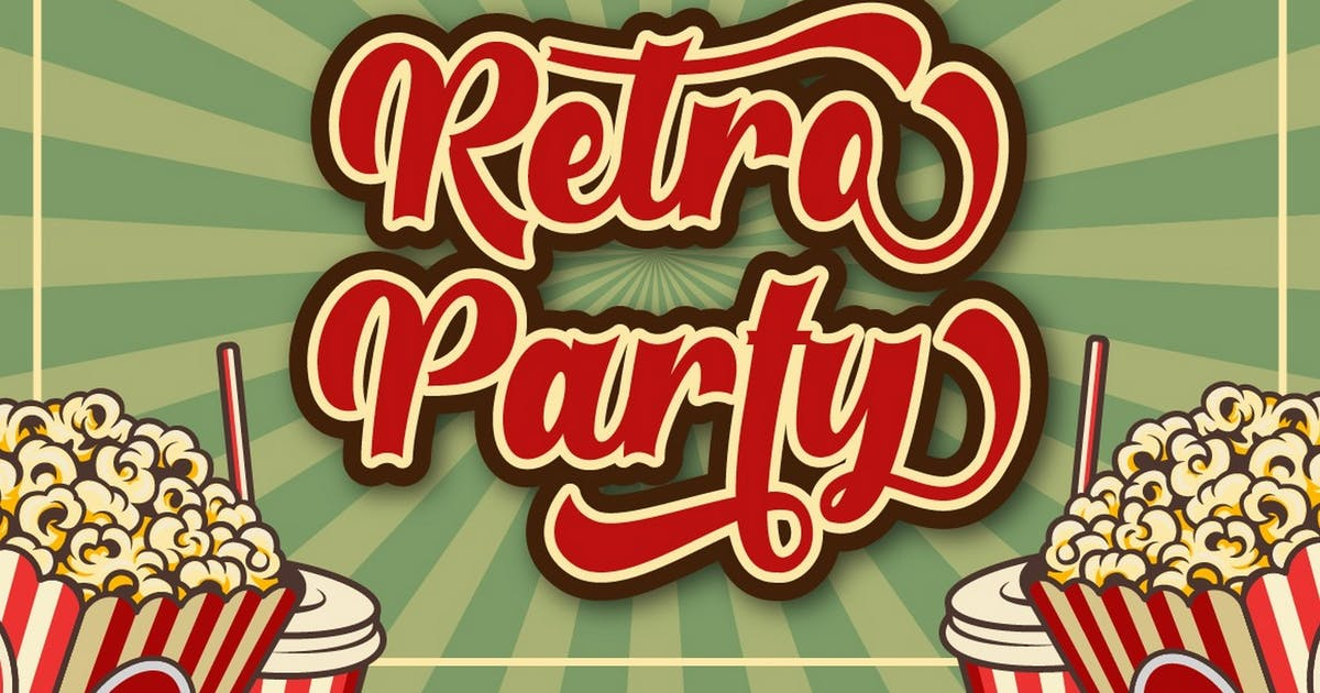 Download Retro Party - Display Retro Font by Ahnaf-Studio