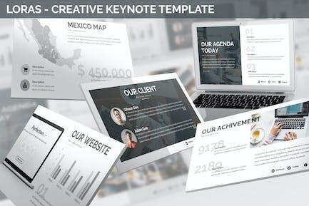 Loras - Creative Keynote Template