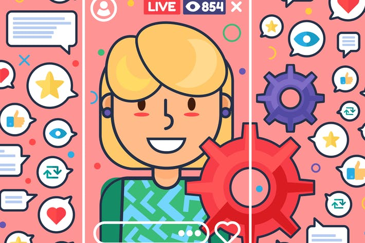 Thumbnail for European Female Streamer Illustration
