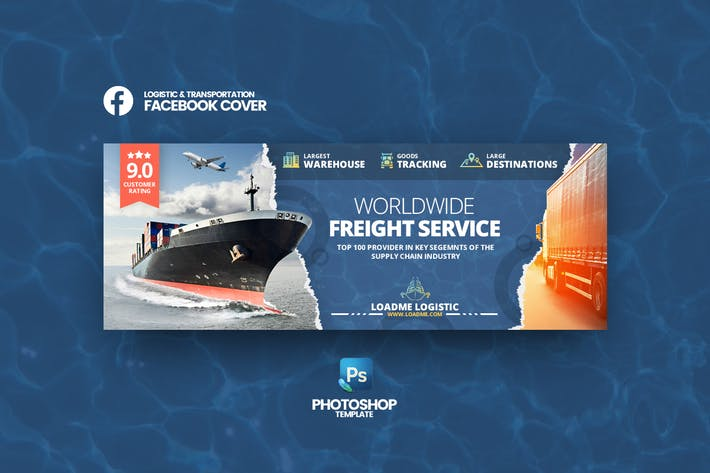 Thumbnail for Loadme - Logistic Facebook Cover Template