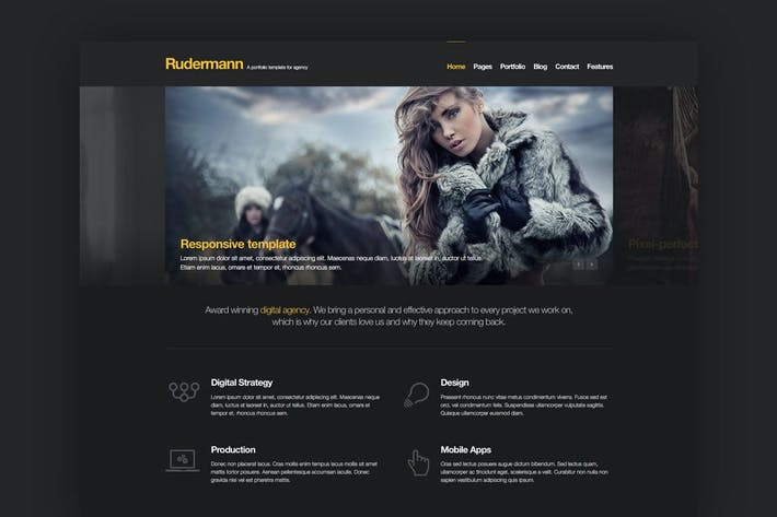 Thumbnail for Rudermann - Agency PSD Template