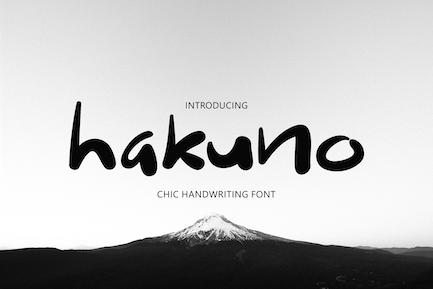 Hakuno - Chic Handwriting Font