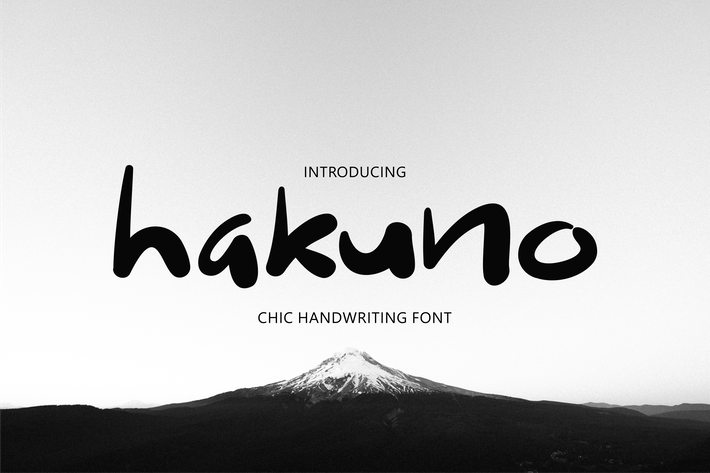 Thumbnail for Hakuno - Chic Handwriting Font