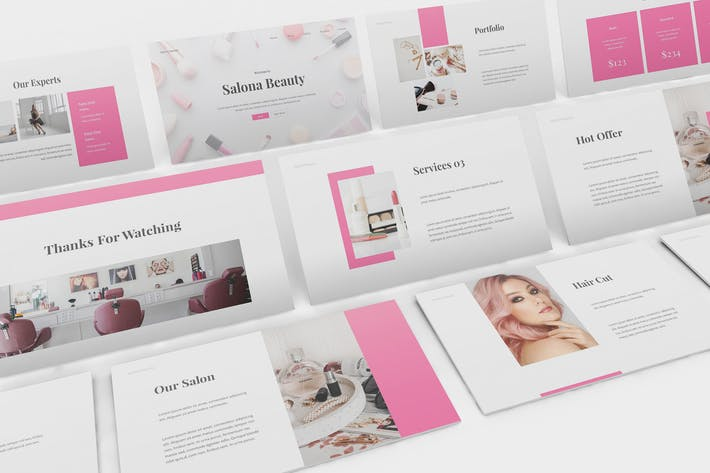 Beauty Salon Google Slides Template