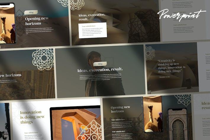 Thumbnail for Alfaj - Elegant Arabic Theme Business PPT
