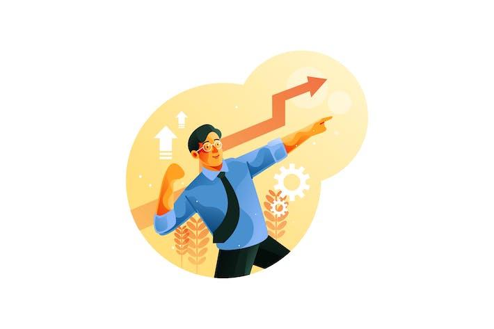 Thumbnail for Geschäftsmann feiert seine Wachstumsfinanzierung