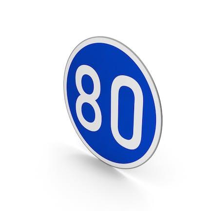 Road Sign Minimum Speed Limit 80