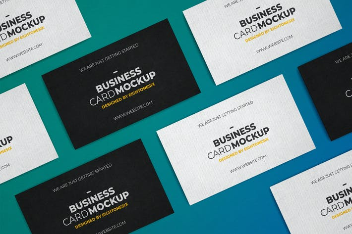 Thumbnail for Realistic Business Card Mock-Up Template