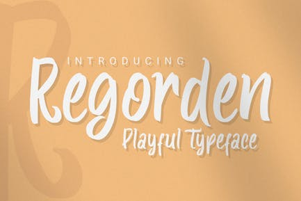 DS Regorden – Playful Typeface