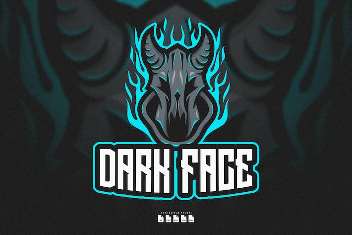 Thumbnail for Logo Skull Face With Horn