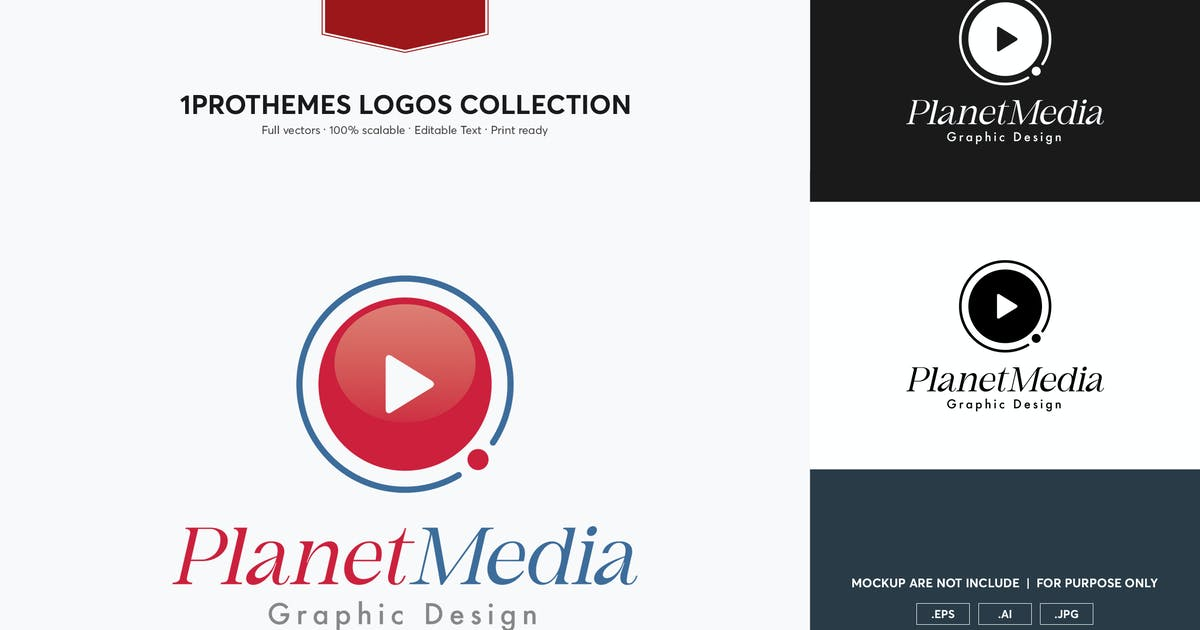 Download Planet Meida Logo Template by 1protheme