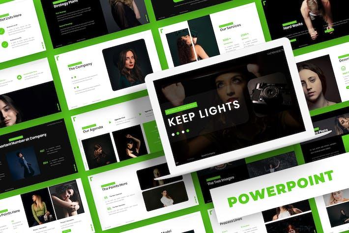 Thumbnail for Licht halten - Powerpoint-Vorlage