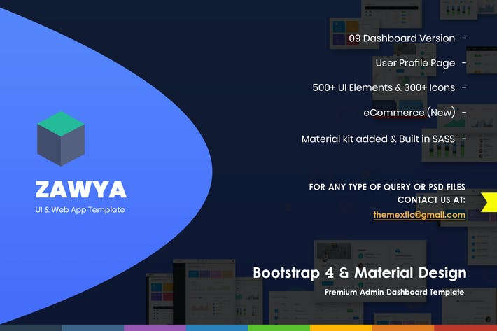 Thumbnail for Zawya - Bootstrap 4 & Material Design Admin Panel
