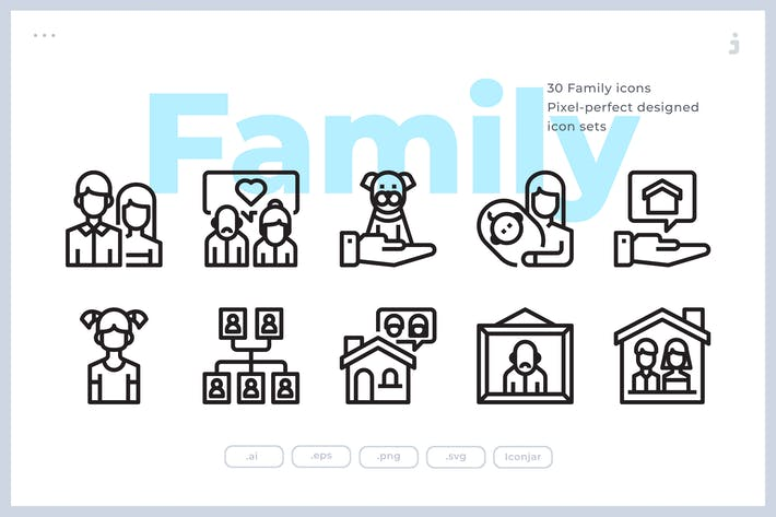 Thumbnail for 30 Family Icons